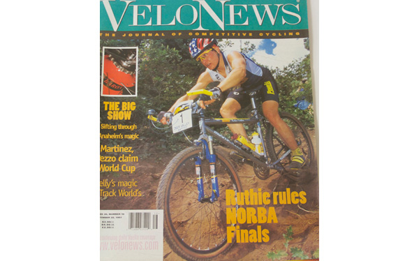Pro racer Ruthie Matthes wins the '97 National X-Country title on her Moots YBB