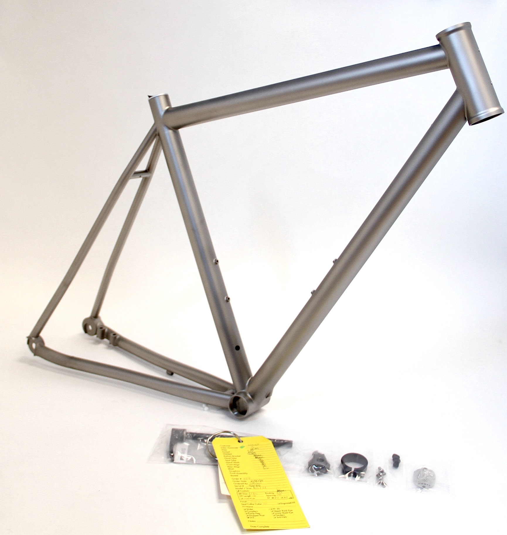 Fully blasted frame ready for paint